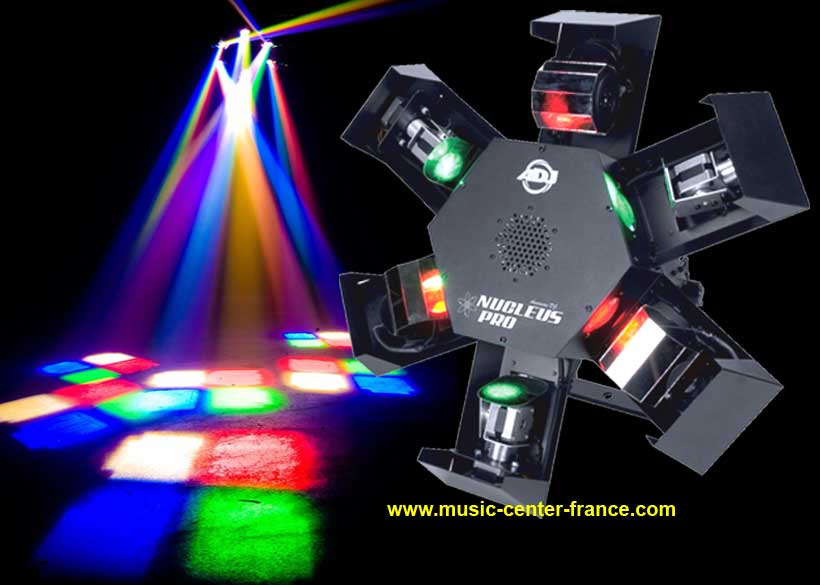 centre piste jeu de lumire led dmx light adj american dj nucleus pro led demo video dmo vido. Black Bedroom Furniture Sets. Home Design Ideas