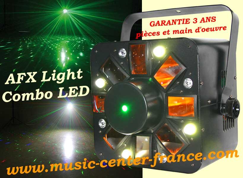 afx light combo led jeu de lumi re dmx laser strobe. Black Bedroom Furniture Sets. Home Design Ideas