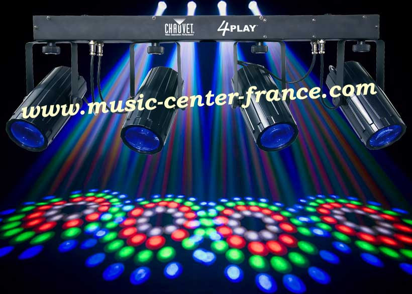 jeu de lumire projecteur dmx chauvet 4play 4 play animation bar thme caf club discothque home. Black Bedroom Furniture Sets. Home Design Ideas