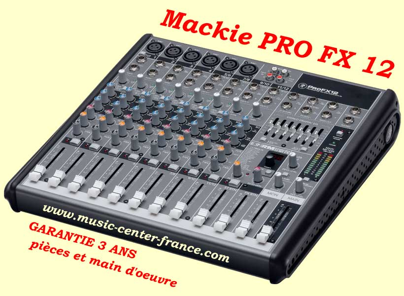 Mackie profx12 pro fx 12 console musicien
