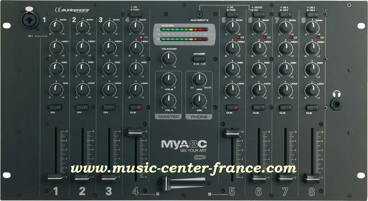 Table de mixage audiophony les bons plans de micromonde - Table de mixage professionnel ...