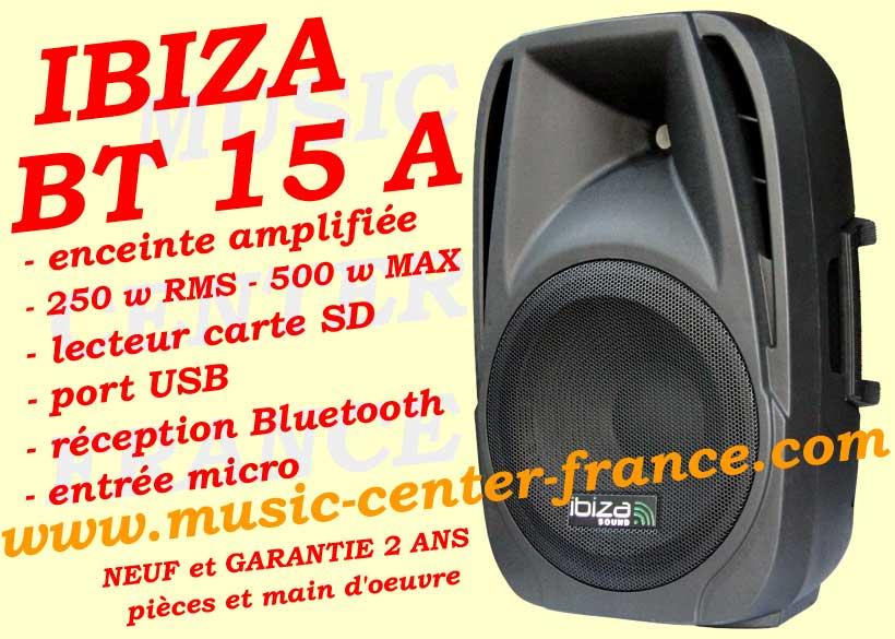 enceinte active ibiza bt 15 bt15 a bt15a usb sd bluetooth. Black Bedroom Furniture Sets. Home Design Ideas