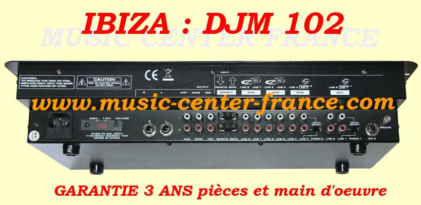table de mixage ibiza djm 102