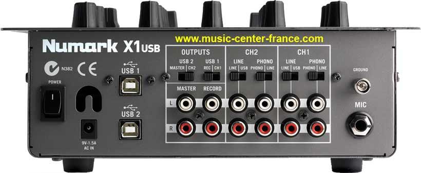 console mixer table de mixage Numark X1 USB - animation bar