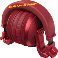 pioneer hdj-x5 bt x5 bt r red rouge casque dj plie
