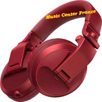 pioneer hdj-x5 bt x5 bt r red rouge casque dj vud