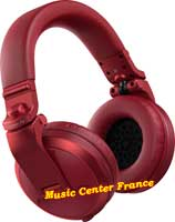 pioneer hdj-x5 bt x5 bt r red rouge casque dj vug