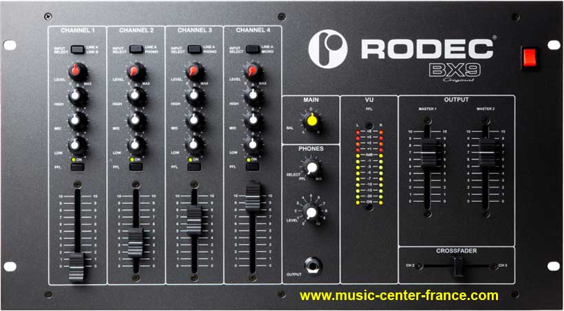 table de mixage rodec bx-9