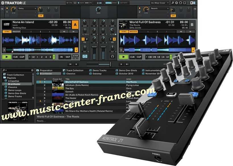 contr leur num rique native instruments traktor z1 animation bar th me caf club discoth que. Black Bedroom Furniture Sets. Home Design Ideas