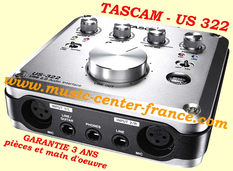 carte son interface audio tascam us322 us 322 animation bar th me caf club discoth que home. Black Bedroom Furniture Sets. Home Design Ideas